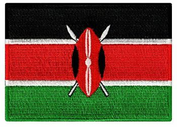 Kenya Embroidered Flag